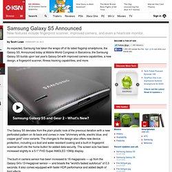 Samsung Galaxy S5 Announced