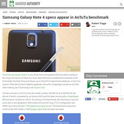 Samsung Galaxy Note 4 specs appear in AnTuTu benchmark