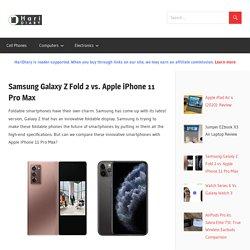 Samsung Galaxy Z Fold 2 vs. Apple iPhone 11 Pro Max - HariDiary
