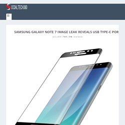 Samsung Galaxy Note 7 Image Leak Reveals USB Type-C Port