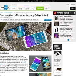 Samsung Galaxy Note 4 vs Samsung Galaxy Note 3