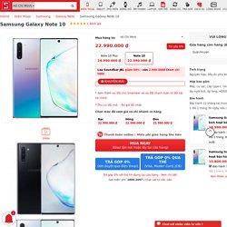 Mua Samsung Galaxy Note 10 tặng phiếu mua hàng 2.3tr tại CellphoneS