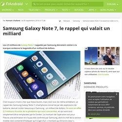 Samsung Galaxy Note 7, le rappel qui valait un milliard