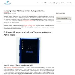 Samsung galaxy A31 Price in India-Full specification