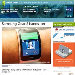 Samsung Gear S hands-on