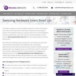 Samsung Hardware Users Email List