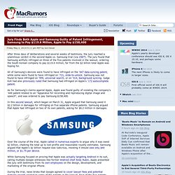 Jury Finds Both Apple and Samsung Guilty of Patent Infringement, Samsung to Pay $119.6 Million, Apple to Pay $158,400