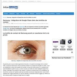 Samsung : intégration de Google Glass dans des lentilles de contact