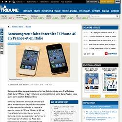 Samsung veut faire interdire l'iPhone 4S en France et en Italie