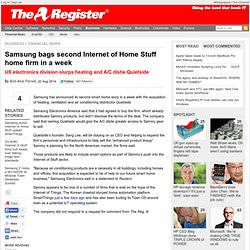 Samsung bags second Internet of Home Stuff home firm in a week