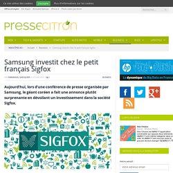 Samsung investit chez le petit français Sigfox