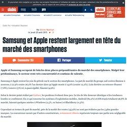 Samsung et Apple restent largement en tête du marché des ...