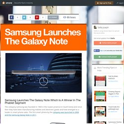 Samsung Launches The Galaxy Note