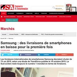 Samsung : des livraisons de smartphones en...