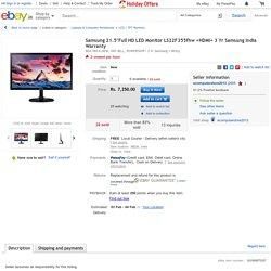 """Samsung 21.5""""Full HD LED Monitor LS22F355fhw +HDMI+ 3 Yr Samsung India Warranty"""