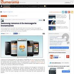 Samsung renonce à la messagerie instantanée