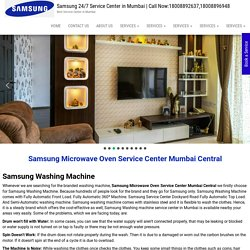 Samsung Microwave Oven Service Center Mumbai Central