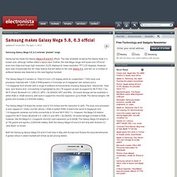 Samsung makes Galaxy Mega 5.8, 6.3 official
