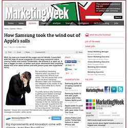 How Samsung took the wind out of Apple's sails