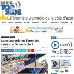 Samsung ordonne l'arrêt des ventes du Galaxy Note 7
