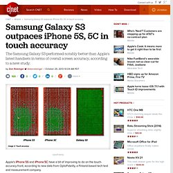 Samsung Galaxy S3 outpaces iPhone 5S, 5C in touch accuracy