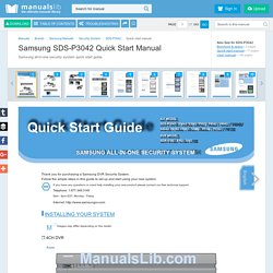 SAMSUNG SDS-P3042 QUICK START MANUAL Pdf Download.