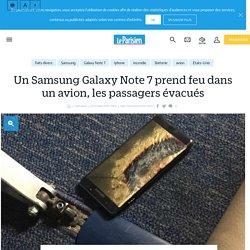 Un Samsung Galaxy Note 7 prend feu dans un avion, les passagers évacués - Le Parisien