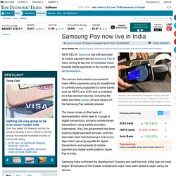 Samsung Pay now live in India