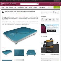 Samsung O table : une plaque de cuisson tactile et mobile