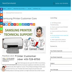 Samsung Printer Customer Service Number