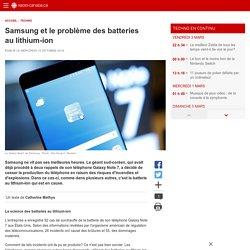 Samsung et le problème des batteries au lithium-ion