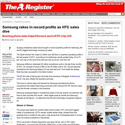 Samsung rakes in record profits as HTC sales dive