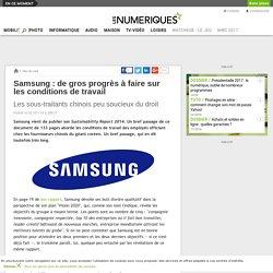 Samsung: de gros progrès à faire sur les conditions de travail