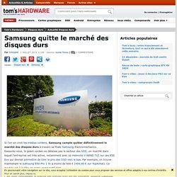 Samsung quitte le marché des disques durs