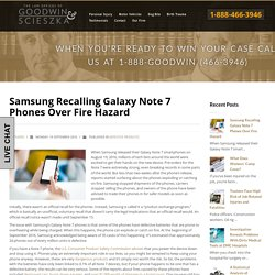 Samsung Recalling Galaxy Note 7 Phones Over Fire Hazard
