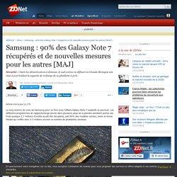 Samsung : 90% des Galaxy Note 7 récupérés et de nouvelles mesures pour les autres [MAJ] - ZDNet