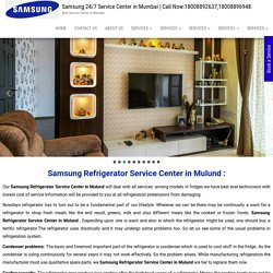 Samsung Refrigerator Service Center in Mulund
