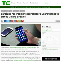Samsung reports highest profit for 2 years thanks to strong Galaxy S7 sales