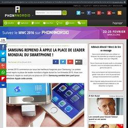 Samsung reprend à Apple la place de leader mondial du smartphone !