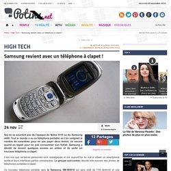 Samsung revient avec un téléphone à clapet