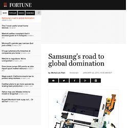 Samsung's road to global domination