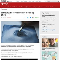 Samsung S8 'eye security' fooled by photo
