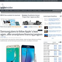 Samsung plans to follow Apple's lead again, offer smartphone financing program
