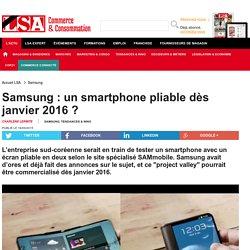 Samsung : un smartphone pliable dès janvier...