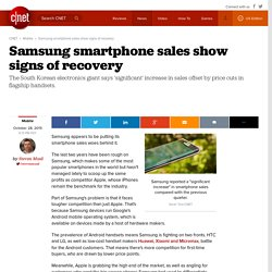 Samsung smartphone sales show signs of recovery