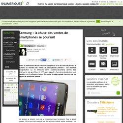 Samsung: la chute des ventes de smartphones se poursuit