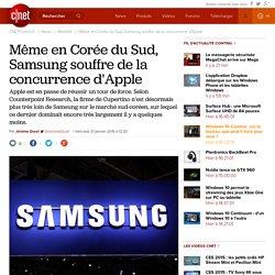 Même en Corée du Sud, Samsung souffre de la concurrence d'Apple