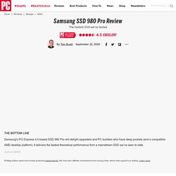 Samsung SSD 980 Pro Review