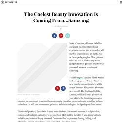 Samsung Beauty Technology Skin Scanning Gadget