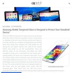 Samsung mobile tempered glass - OpenAir Electronics